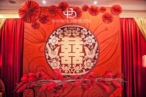 金海棠大酒店浪漫中国风婚宴现场
